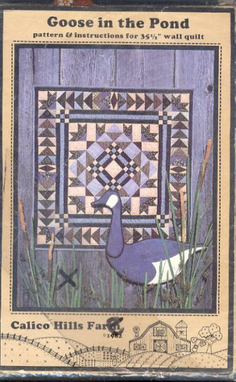 "Sewing Pattery, Calico Hills, Goose in the Pond, 35.5"" wall quilt"