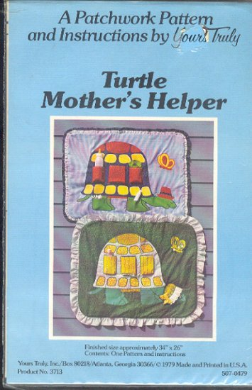 "Sewing Pattern, Patchwork by Yours Truly, Turtle Mother's Helper, 34"" X 26"""