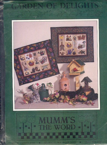 Sewing Pattern, Mumm's the Word, Garden of Delights by Debbie Mumm, 21 X 18""