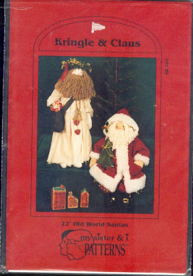 Sewing Pattern, My Sister & I Patterns, Kringle and Claus Dolls 22""