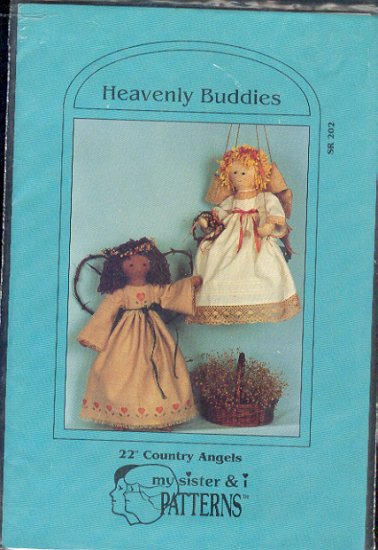"""Sewing Pattern, My sister and I Patterns, Heavently Buddies Country Angels, 22"""" dolls"""