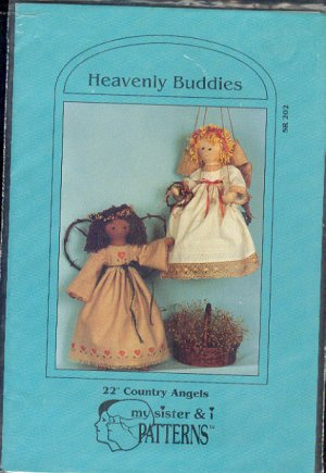 "Sewing Pattern, My sister and I Patterns, Heavently Buddies Country Angels, 22"" dolls"