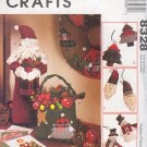 McCall's Sewing Pattern 8238, Ornaments, Bag, Santa Doll and Wreath