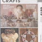 McCall's Sewing Pattern 6819 Christmas Heart, Doll/Topper,, Garland and Wreath, One size