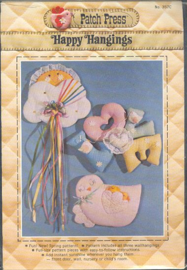 Sewing Pattern, Wall Hangings for a child's room from Patch Press,