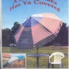 Sewing Pattern, Remove and wash patio unbrella pattern, includes spoke protectors,