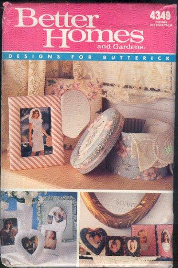 Butterick Sewing Pattern 4349, Bandbox, frames Several Sizes