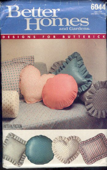 Sewing Patern 6044 Butterick, Throw Pillows