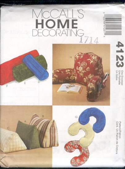 McCall's Sewing Pattern 4123, Unusual Pillows, Easily made