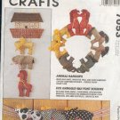 McCall's Sewing Pattern 7053, Noah's Ark, Animals in wreath and as a wall hanging, One Size