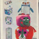 Simplicity Sewing Pattern, Three silly pillows, Vanity Bags and garment bag