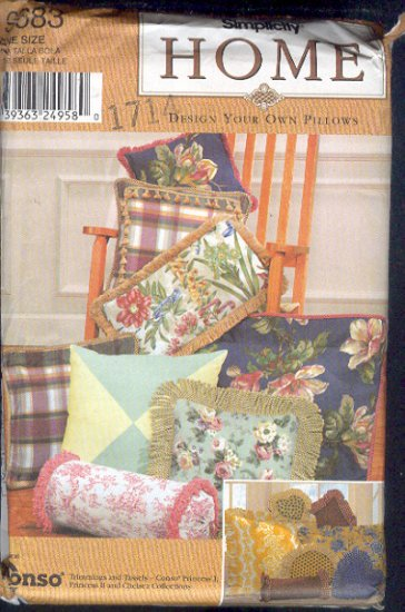 Simplicity Sewing Pattern, 25 styles, Throw Pillows