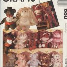 "McCall's Sewing Pattern 680 21"" Bear and all the clothes shown, One Size"