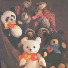 """Simplicity Sewing Pattern, 6142, Vintage, Four 16"""" Bears"""