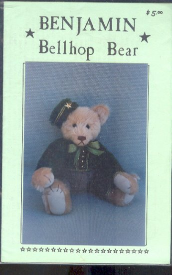 Sewing Pattern, Benjamin Bellhop Bear, 14""