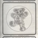 "Sewing Pattern, Animal Crackers, 14"" Boysenberry Bear"