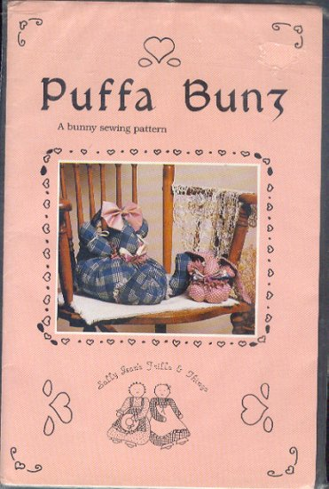 Sewing Pattern, Puffa Bunz, Bunny Rabbit, 10 X 8 and 4 X 4 inches