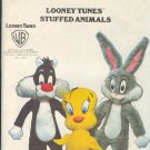 Butterick Sewing Pattern, 5347, Bugs, Sylvester and Tweety Stuffed Animals, 42""