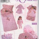 "Simplicity Sewing Pattern 7777, Chld's Sleepover Accessories and matching for 18"" doll"