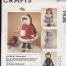 "McCall's Sewing Pattern 7436, 18"" Doll Outfits for winter, as pictured, also for American Girl"