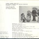 """Sewing Pattern, Carolee Creations, Sittin Pretty Girls 22"""" doll and clothing"""
