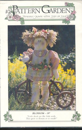 """Sewing Pattern, Pattern Garden, Blossom Doll 19"""" with clothes, Sweet"""