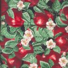 "Sewing Fabric Cotton Red Apples, 1 yd X 44"" Neat  No. 109"