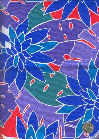 "Sewing Fabric Cotton Hawaii print 2 yds X 44""  No. 103"
