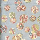 Sewing Fabric Cotton Asian Plates on soft sage 5 yds  No. 142
