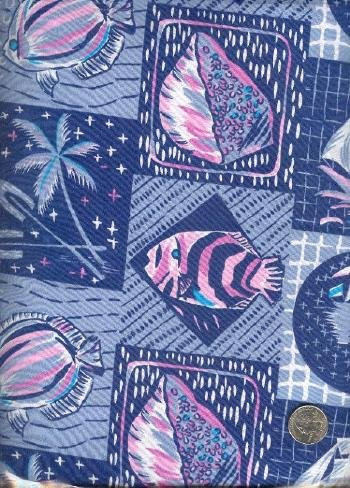 "Sewing Fabric Cotton Hawaii print, 3 yds X 44""  No. 146"