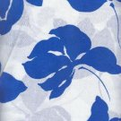 "Sewing Fabric Cotton Hawaii Print, Blue White 3 yds X 44""    No. 149"