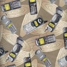 Sewing Fabric Cotton Cell Phones on Beige, Neat 5.75 yd  No. 168