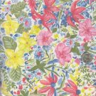 Sewing Fabric Cotton Pretty flowers on white 1.75 yds  No. 176