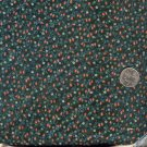 Sewing Fabric Cotton Small Print Flowers on dark green 2 yards  No. 182