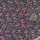 Sewing Fabric Cotton Small Print Flowers on black l.25  No. 191