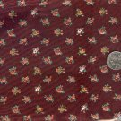 Sewing Fabric Cotton Small Print Flowers on dark brown  No. 199