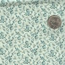 Sewing Fabric Cotton Small Print Flowers on Pale Green  No. 209