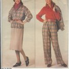 Sewing Pattern, Sampler by Vogue 0995, Jacket, Blouse, skirt and pants, Size 14 -16 -18