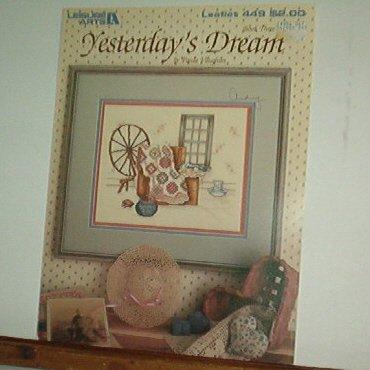 Cross Stitch Pattern YESTERDAY'S DREAM Spinning wheel, quilt
