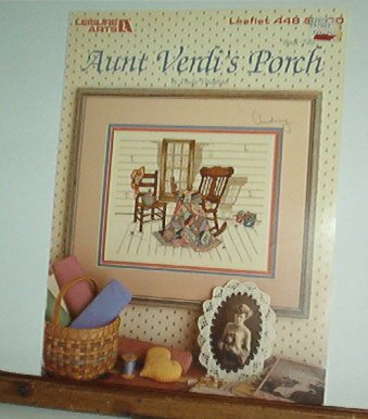 Cross Stitch Pattern AUNT VERDI'S PORCH Rocker, Quilt & Chair