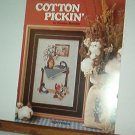 Cross Stitch Patterns COTTON PICKIN Vase on table and cute bag