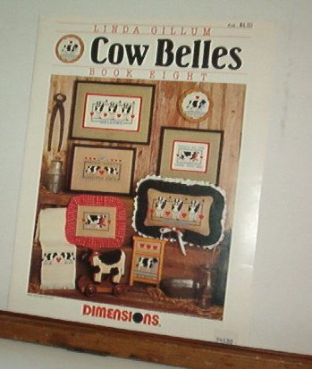 Cross Stitch Patterns - COW BELLES  Eight small designs