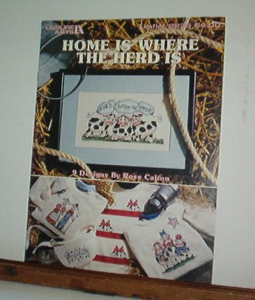 Cross Stitch Patterns COWS - HOME IS WHERE THE HERD IS  10 Small Patterns