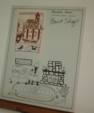 Cross Stitch Pattern   BAIT SHOP Houses on pier with boats, cute