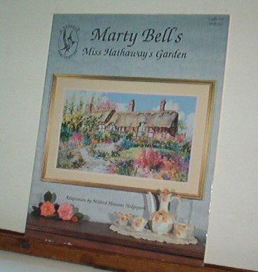 Cross Stitch Pattern - Marty Bell's MISS HATHAWAY'S GARDEN  Beautiful