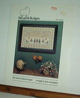 Cross Stitch patterns, Little Fat Birds Sampler, 1 design, very nice