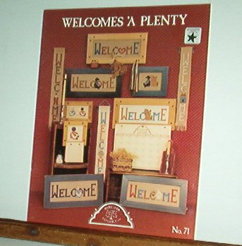 Cross Stitch Patterns, Welcomes A Plenty, 12 Welcome designs