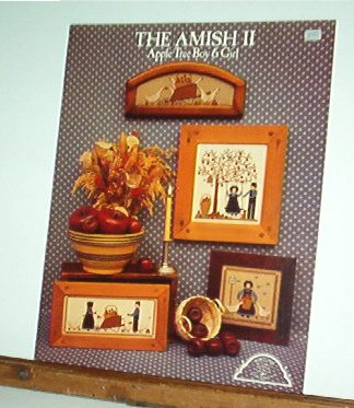 Cross Stitch Patterns, The Amish Apple Tree Boy and Girl, 4 designs