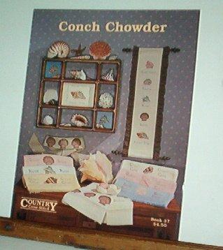 Cross Stitch Pattern, Conch Chowder, Shells, 14 designs