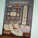 Cross Stitch Pattern, Conch Chowder, Shells, 14 designs